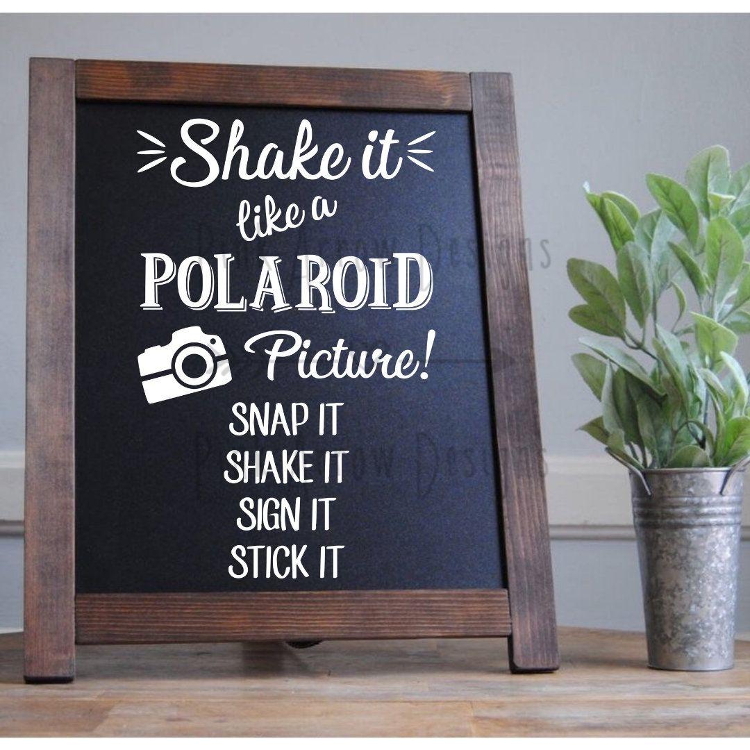 Shake it like a polaroid picture svg, Wedding polaroid ...