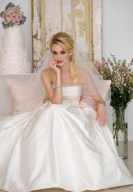 Modern Romance Wedding Dress : Modern romance casablanca bridal couture silk shantung gown