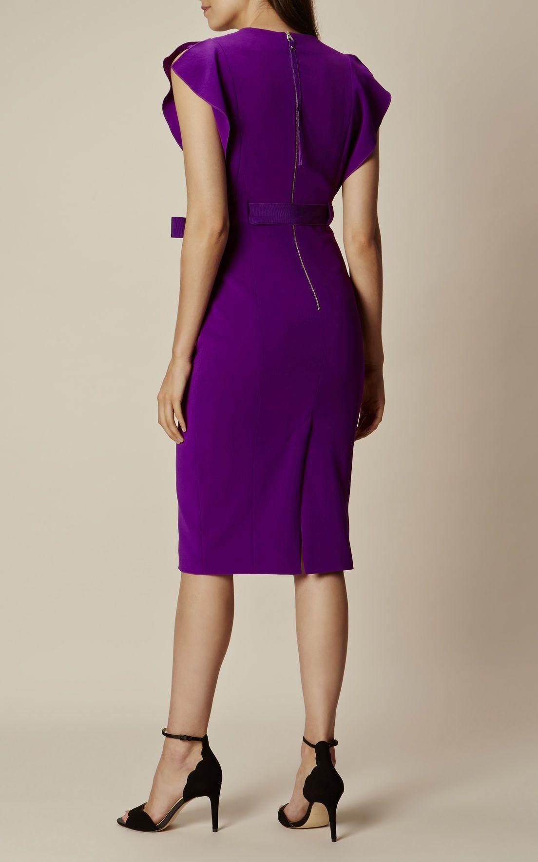 2ea2d5b6e Karen Millen, FRILL PENCIL DRESS Purple | km in 2019 | Dresses ...