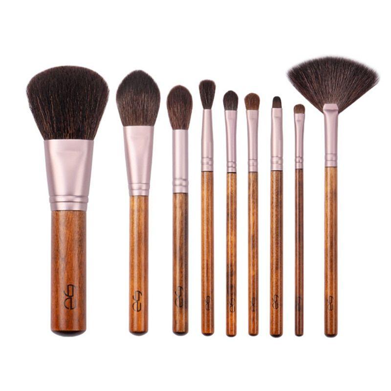 Photo of USD$14.3 My Destiny 9Pcs Makeup Brushes Set Natural Wood Goat Hair Powder Eyeshadow Highlighter Make up Brush brochas de maquillaje