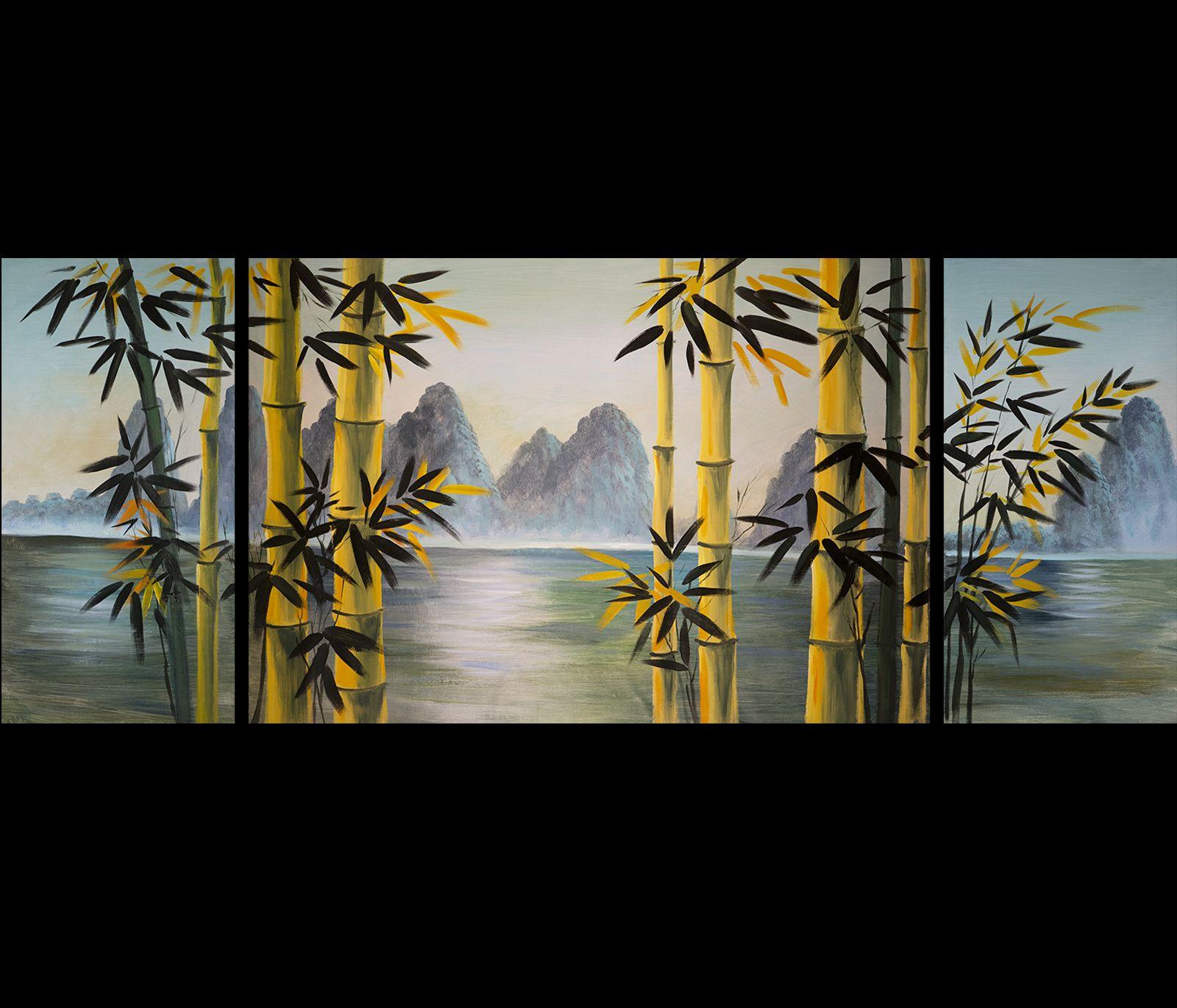 Wall Art Painting Of Bamboo