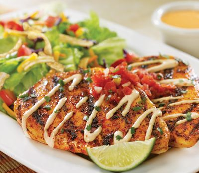 Red Robin Gourmet Burgers Ensenada Chicken Platter Healthy Dining Recommended Healthy Dining