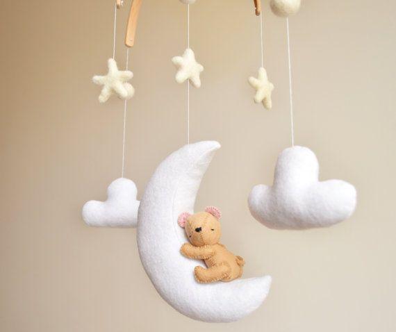 Teddy Bear Crib Baby Mobile Nursery Decor Baby Shower