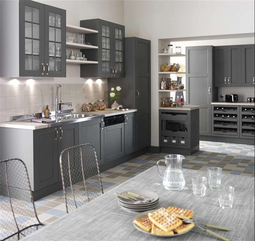grey kitchen / cuisine en camaïeu de gris House! Pinterest