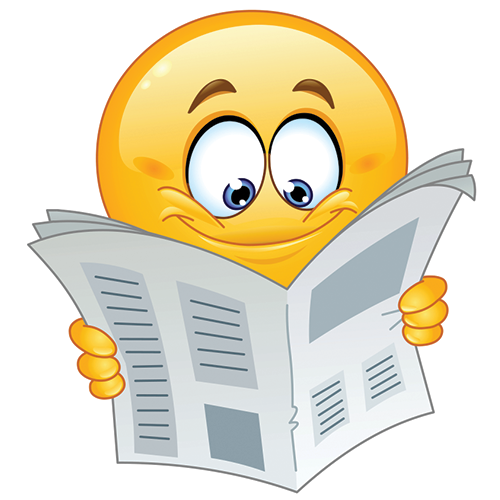 Reading a Newspaper | Smiley, Emoticon faces, Emoticon