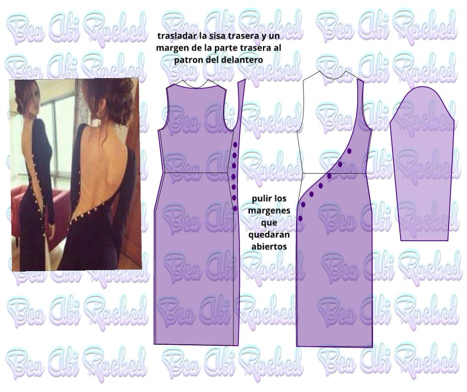 KiVita MoYo: DISEÑO DE VESTIDO LATERAL ABIERTO. | moldes ropa ...
