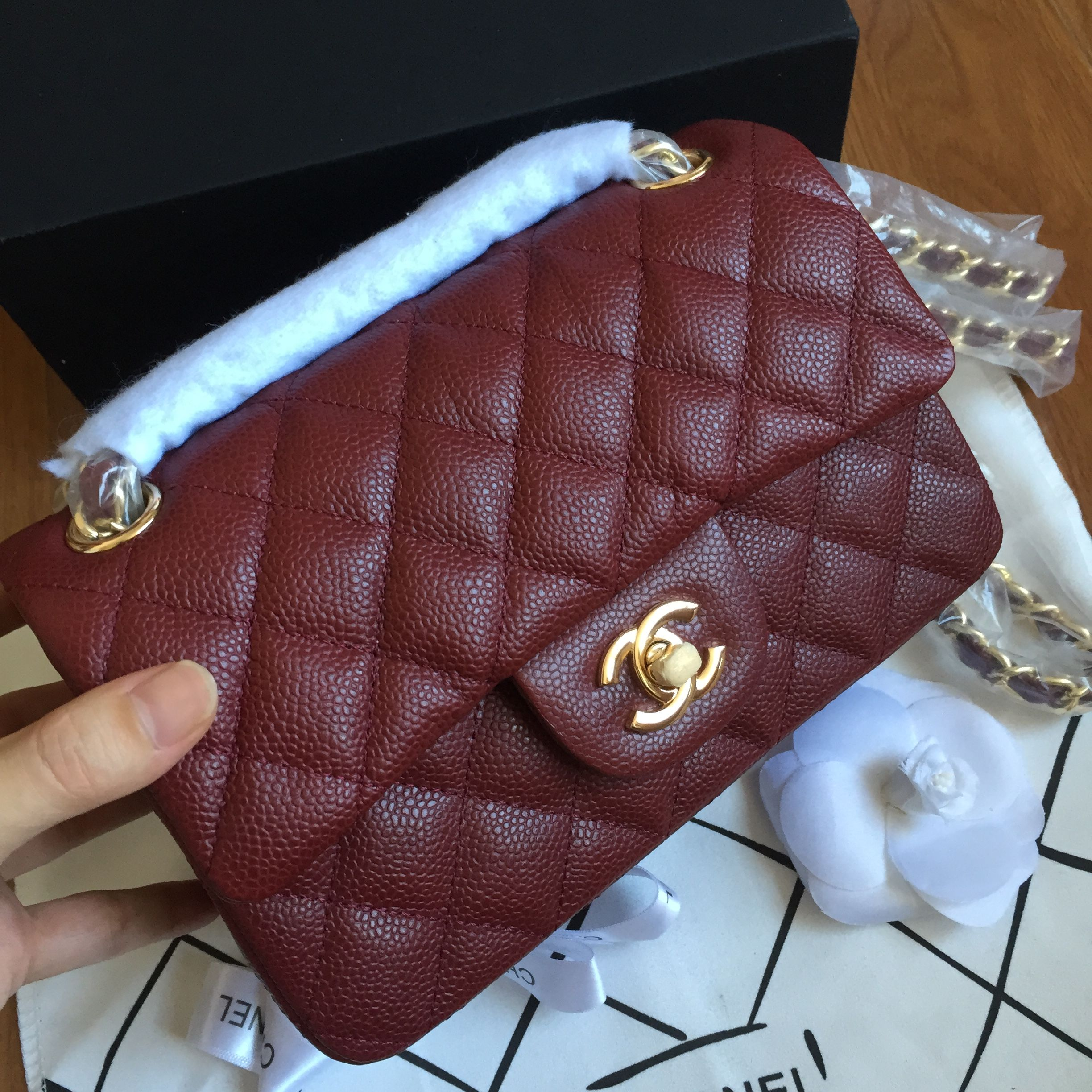 Chanel 2.55 small flap bag original leather wine red   Chanel bags ... eb083ca591