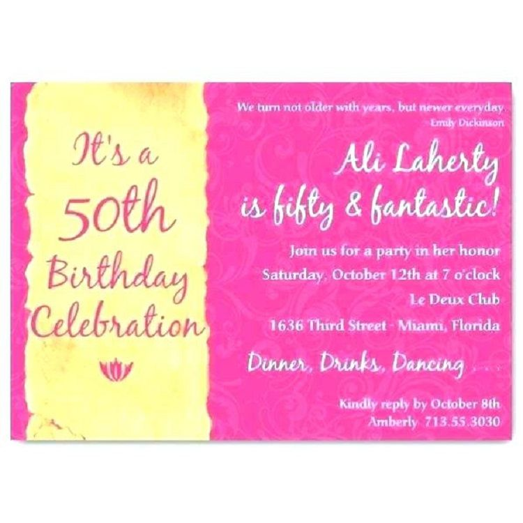 50th Birthday Invitation Sayings Funny