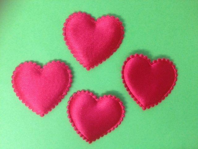 BULK WHOLESALE 100 RED SATIN HEART VALENTINES CARD MAKING CRAFT – Bulk Valentine Cards