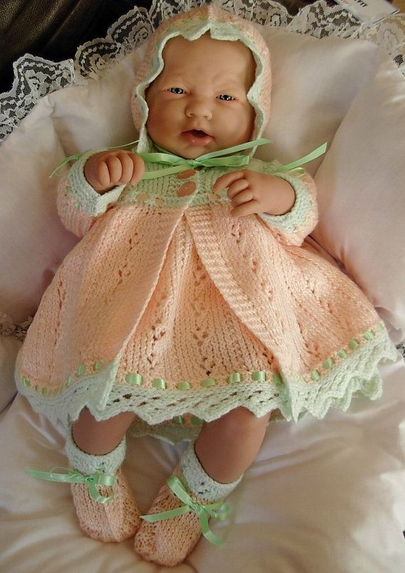Girl\'s pdf Knitting Pattern 4 Piece Outfit in all 3 sizes - Prem ...