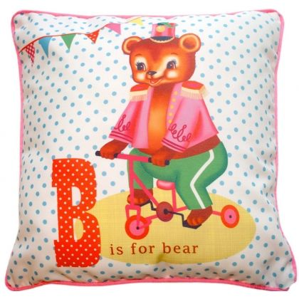 Circus Bear Cushion From Lark Vintage Kids Toys How To Make Pillows Bear