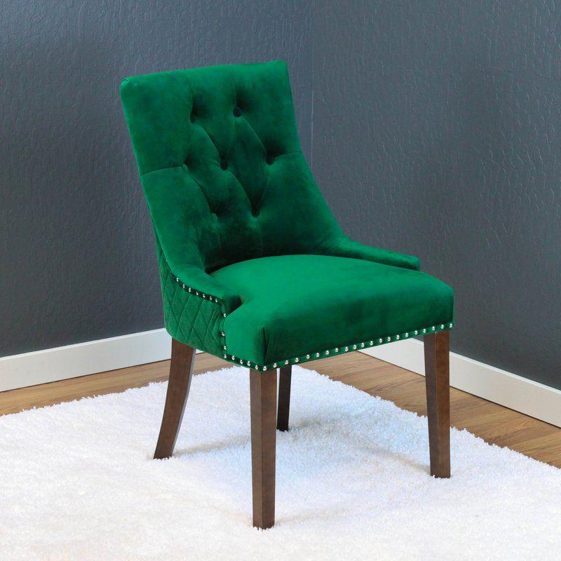 Bernyce velvet upholstered dining chair velvet dining
