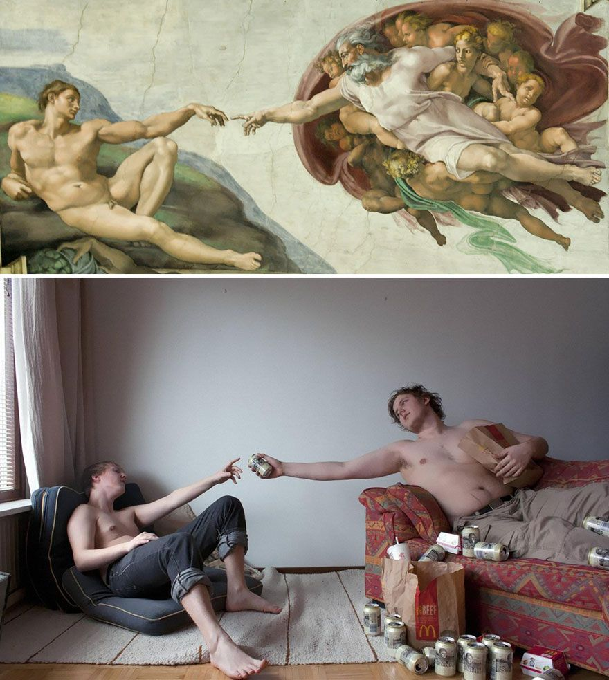 20 Modern Remakes Of Famous Paintings | Dog Eat Dog