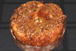 Gluten Free Sticky Bun - As fabulous as our cinnamon buns – Our 6″ round sticky bun is delicious and tender, with plenty of our made from scratch cooked caramel and fresh pecans!  Sweet Ali's Gluten Free Bakery, Hinsdale, IL.  www.sweetalis.com