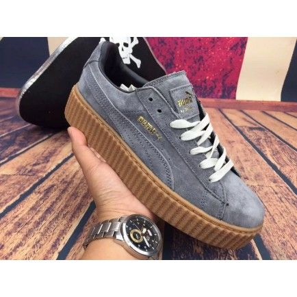Puma Rihanna X Suede Creepers Casual Shoes Gray White | wish