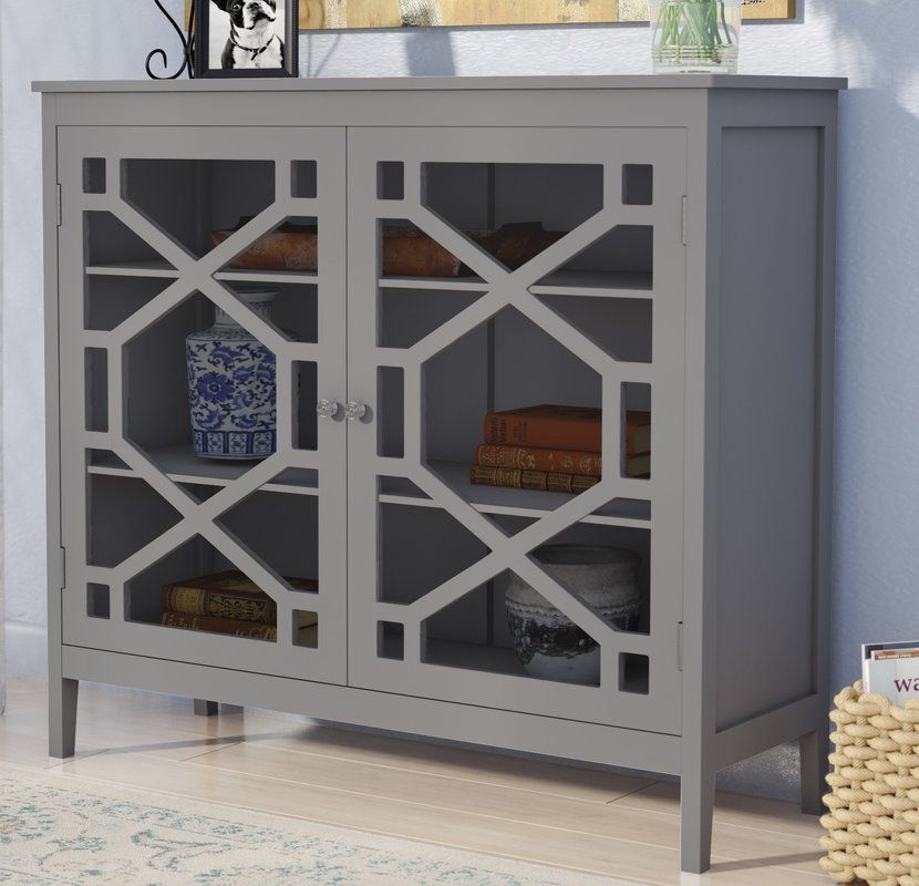 Riverbay Furniture Small Cabinet in Blue