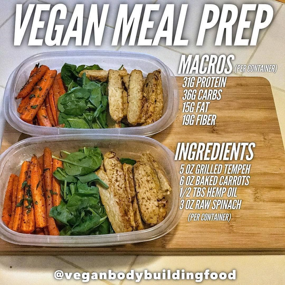 Vegan Fitness Nutrition Info On Instagram Simple Meal Prep Idea If You Haven T Noticed I Keep It Simple Vegan Meal Plans Fitness Meal Prep Workout Food