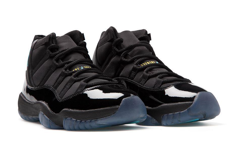 6f13e03bebc4 AIR JORDAN 11 RETRO  GAMMA  Black Gamma Blue-Black-Varsity Maize.  Gamma 11 Front 2048x1280.jpg Nike Shoes ...