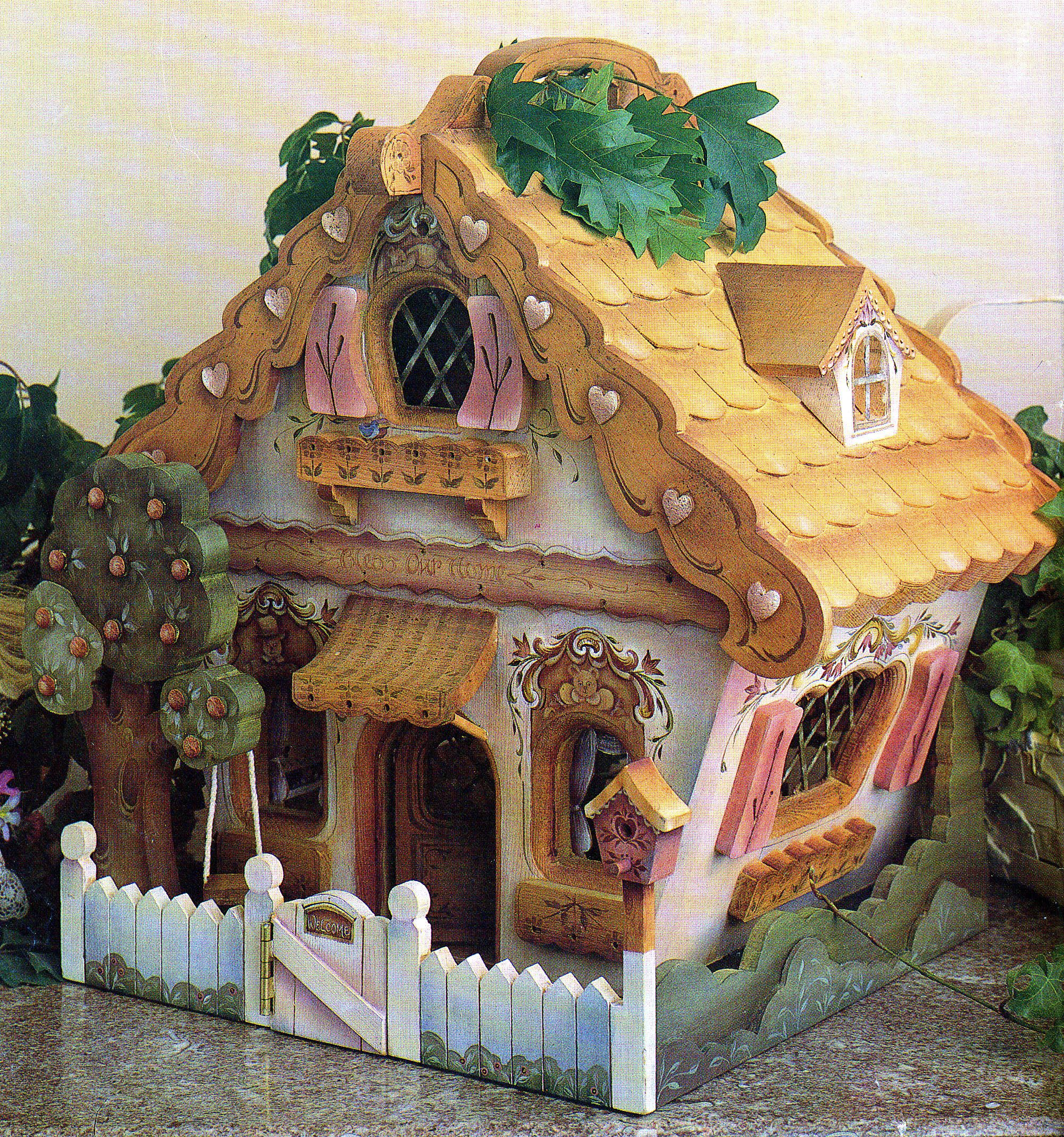 Woodworking Plan For Building A Fun Whymsical Doll House Full Size Patterns Gingerbread House Cookies Gingerbread House Make A Gingerbread House