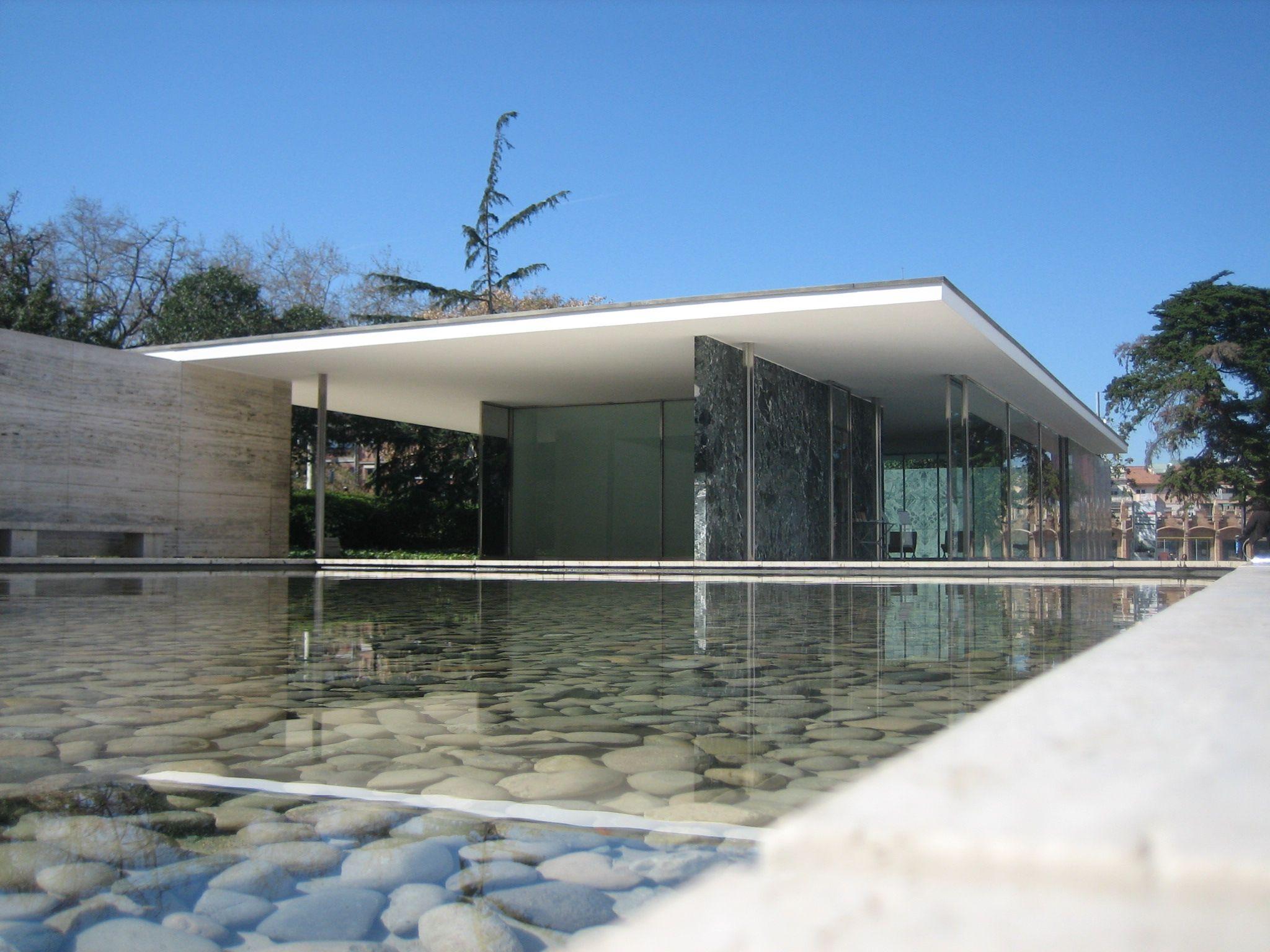 Pavilh o de barcelona mies van der rohe architecture for Mies van der rohe barcelona