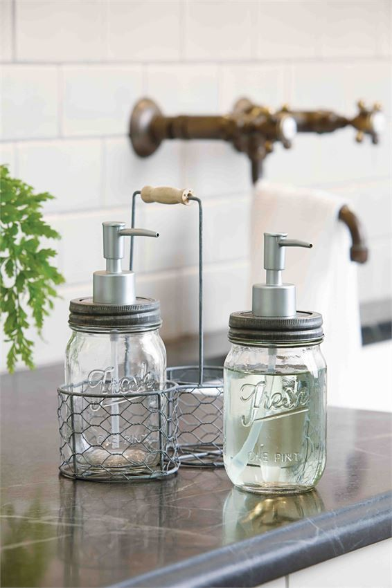 Our Mason Jar Soap Caddy Comes As A 3 Piece Set Glass Preserve