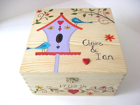 X Large Wedding memory box, Keepsake box, Wedding gift, Anniversary ...