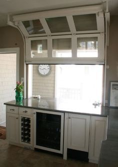 Rolling Overhead Door At Kitchen Bar Google Search