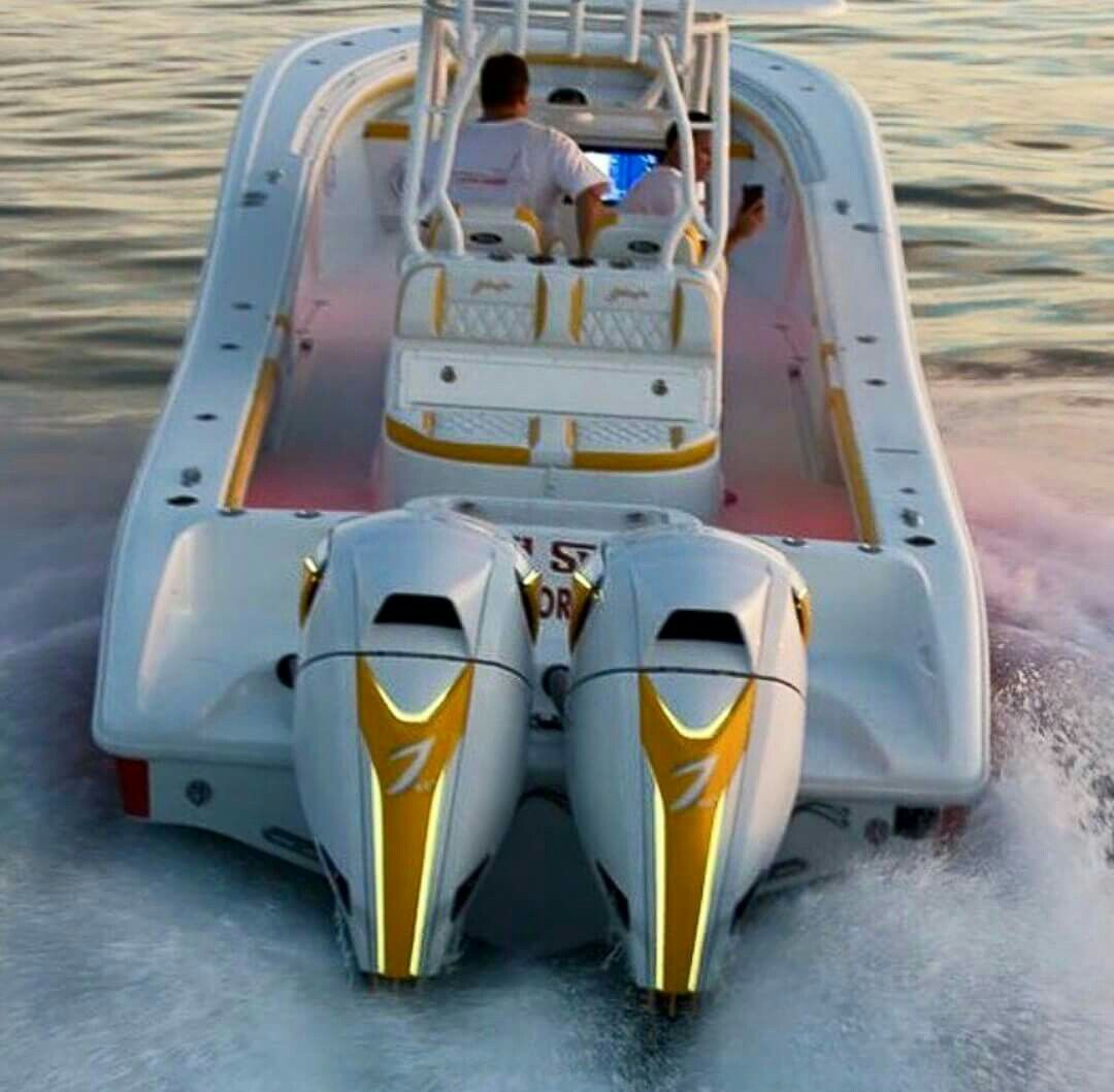 Twin 7 Marine custom outboards on large center console