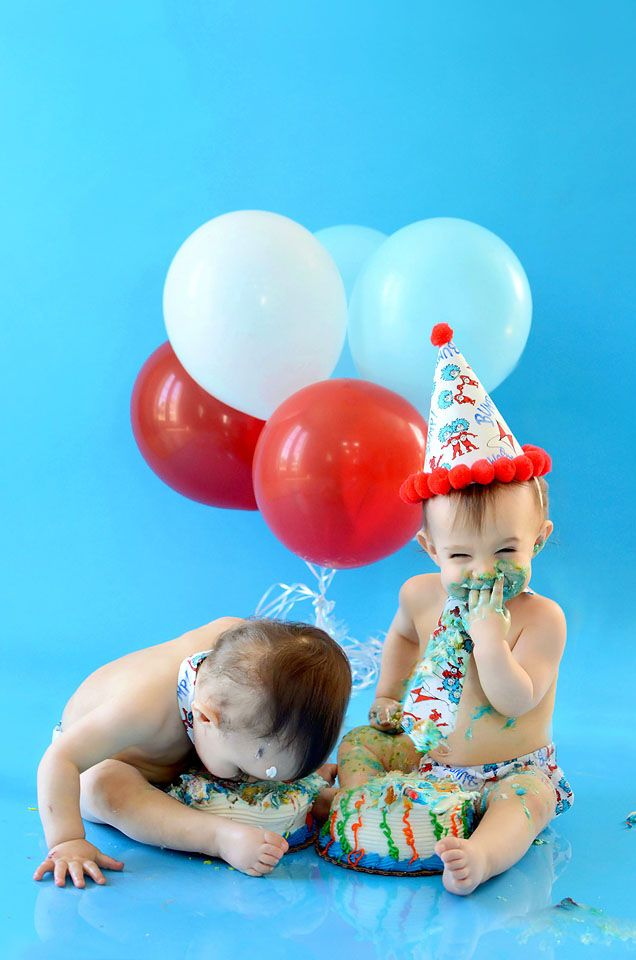 Twins Smash Cake Session by Cindy Griffin Photography