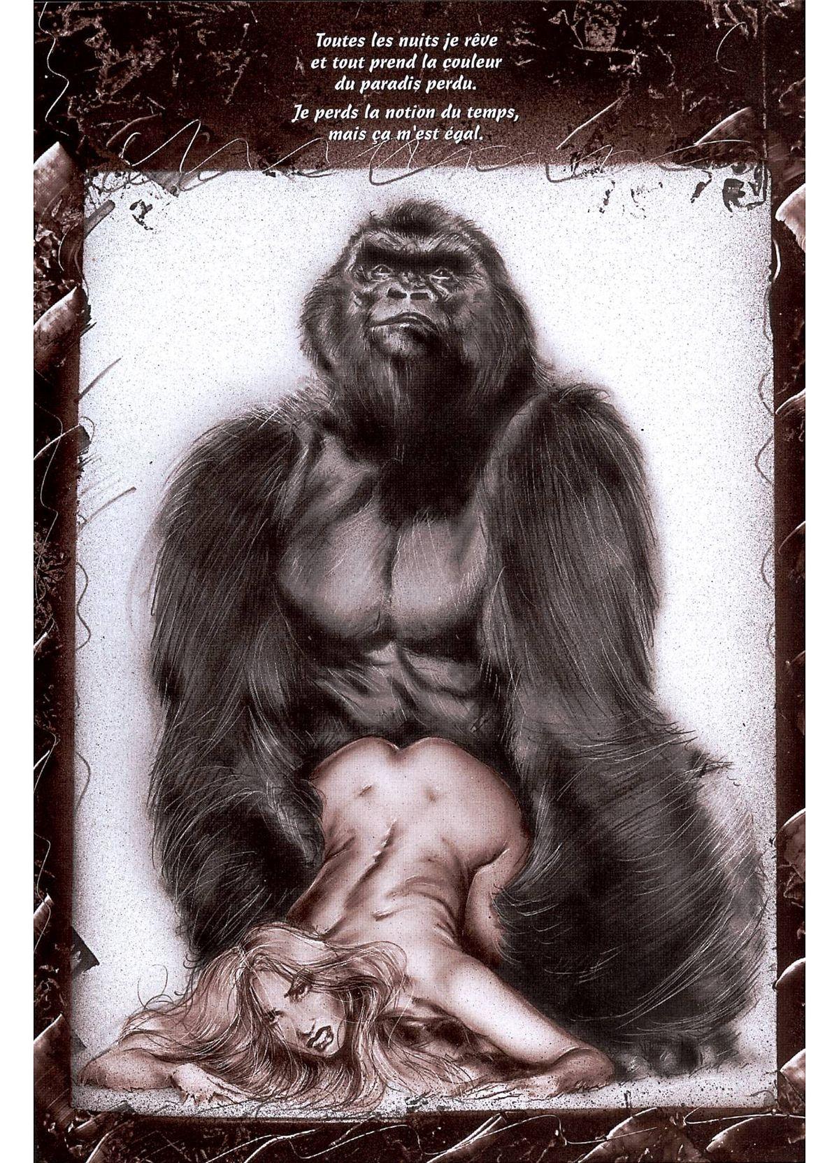 gorillas with sexy girls
