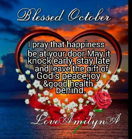 October Blessings! | New month wishes, New month quotes