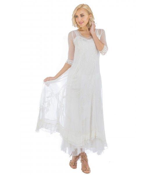 Celine Vintage Style Wedding Gown In Ivory By Nataya Weddings And