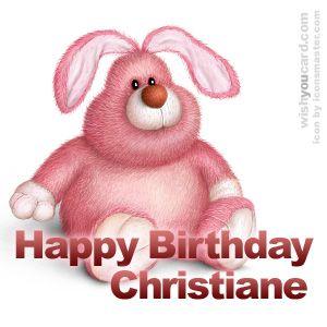 Happy Birthday Christiane Celine Alles Gute Zum Geburtstag