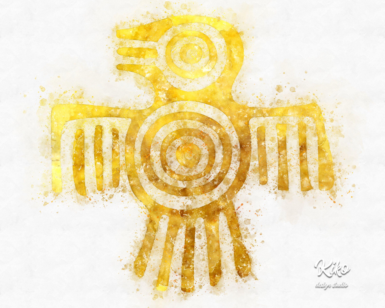 Tribal Wall art Digital download Aztec Watercolor Art Prints Home ...
