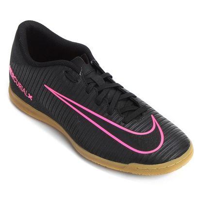 Chuteira Nike Mercurial Vortex 3 IC Futsal - Preto  a8a2df9a844d7