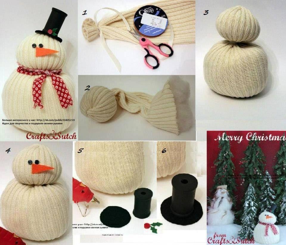 Paso a paso hacer monito de nieve navidad pinterest nieve mono y manualidades navide as - Manualidades de navidad paso a paso ...