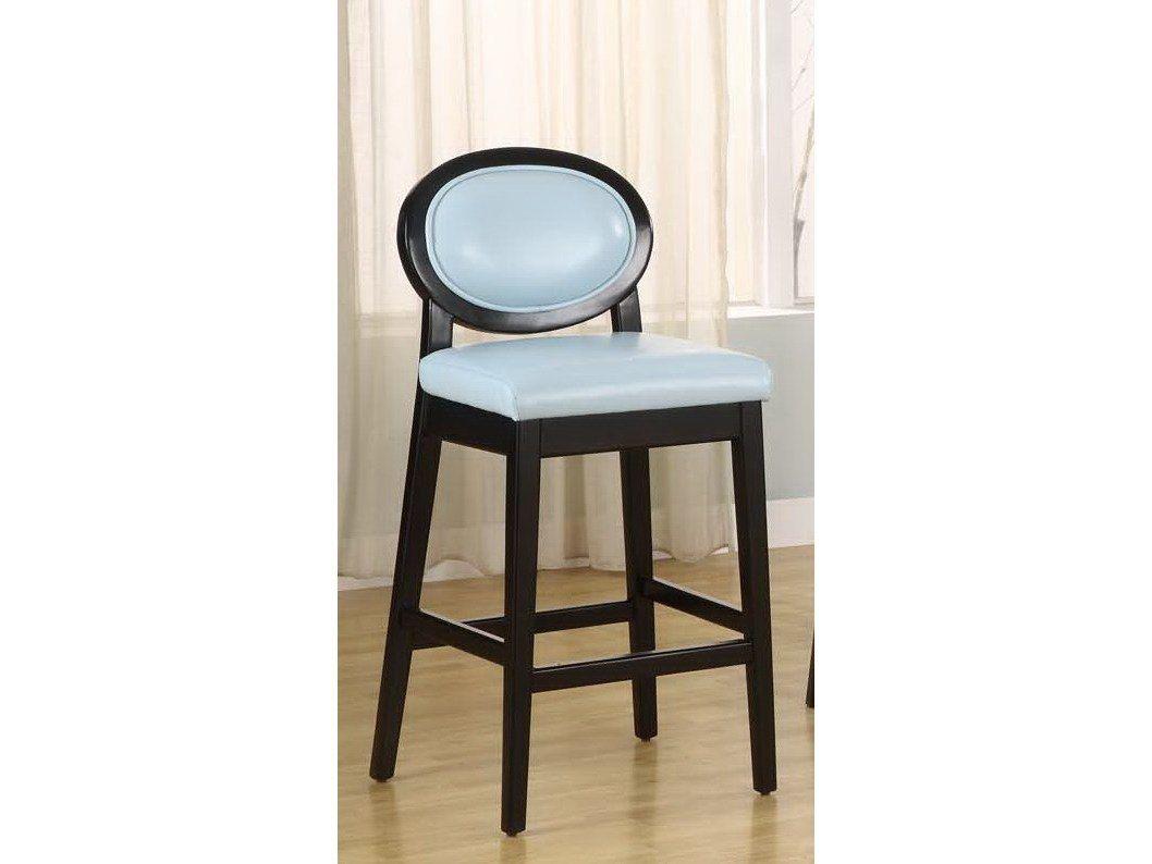 Remarkable Armen Living Martini 26H Sky Blue Leather Barstool Dailytribune Chair Design For Home Dailytribuneorg