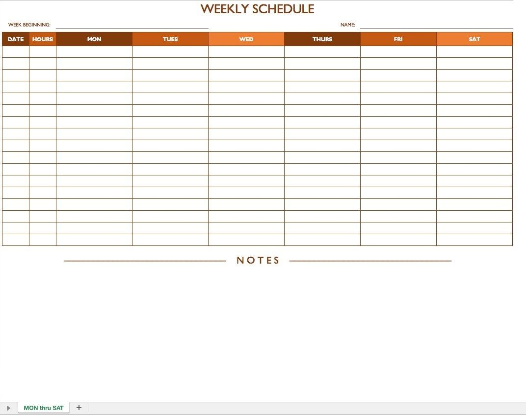 Free Work Schedule Templates For Word And Excel Smartsheet Make