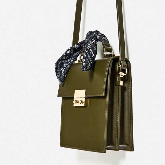 28b8eefad18e Image 6 of CROSSBODY BAG WITH SCARF DETAIL from Zara