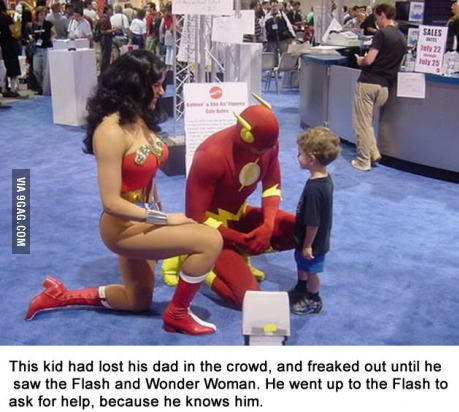 This is beyond adorable. What a smart little kid. And such awesome super heros.