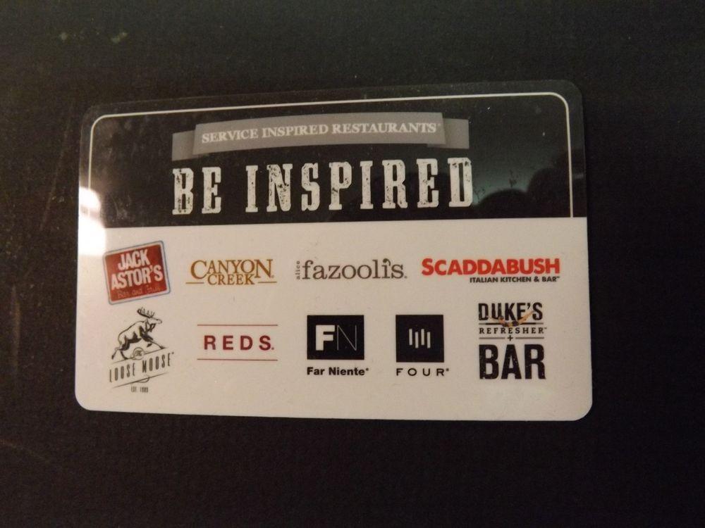 $50 Gift Card - Fazooli s, Canyon Creek, Jack Astor s, Any SIRCORP Restaurant a