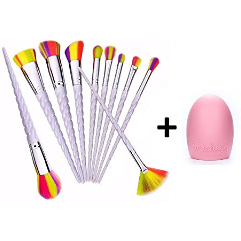 af326dcfc7ebe Diamond Unicorn Mermaid Makeup Brush Set Synthetic Kabuki Foundation ...