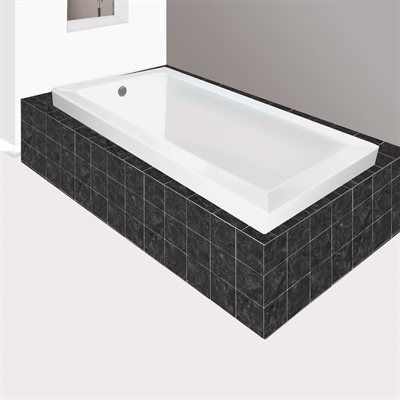 jade bath blw1023-6 signature portland podium soaker tub | lowe's