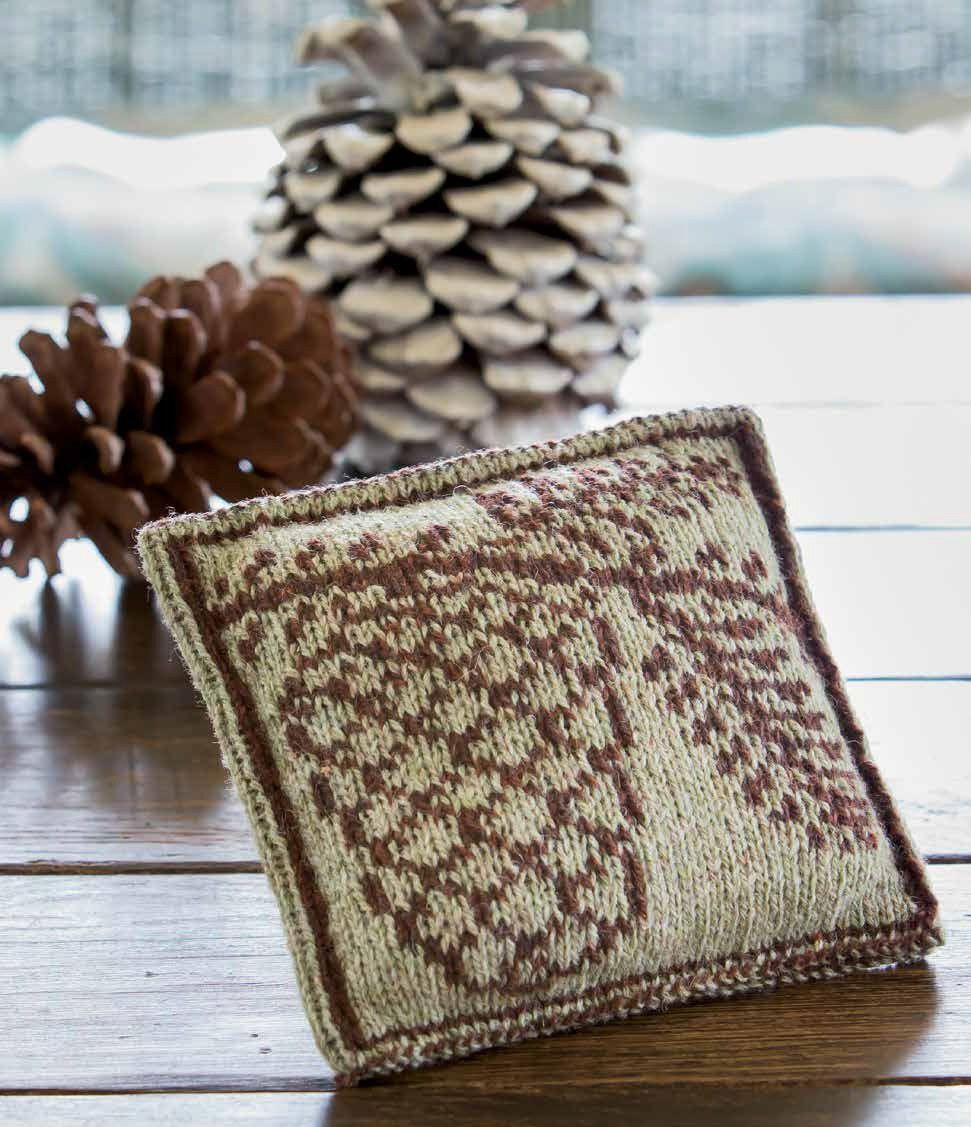 Fir cone sachet pattern alasdair post quinn interweave knits knitted pine cone sachet or ornament link to buy pattern bankloansurffo Images