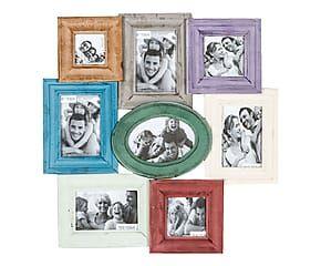 Portafoto multiplo da parete in abete Francine - 53x54x3 cm