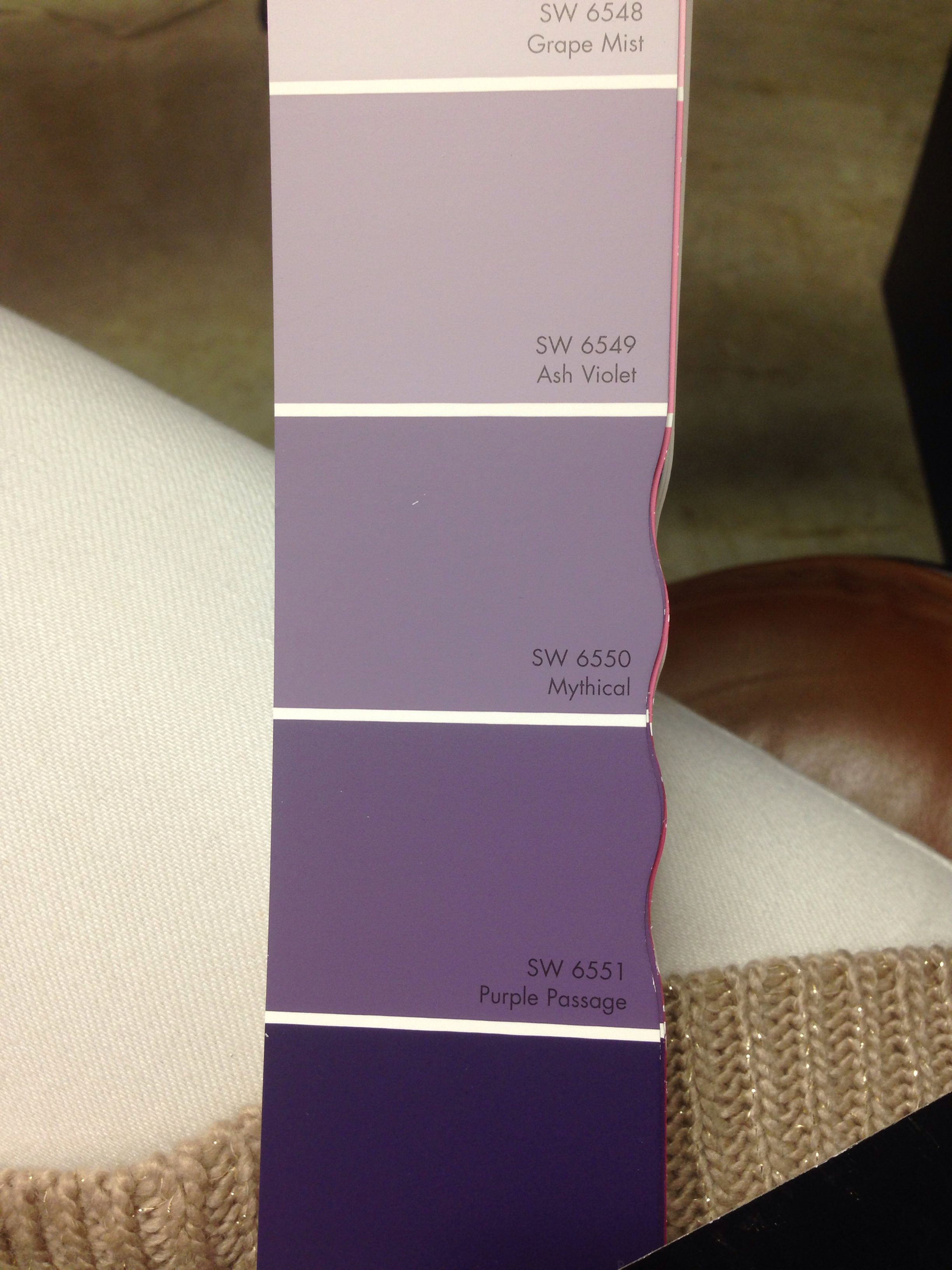 Purple Sherwin Williams Ash Violet Mythical Home And Garden Pinterest Ash Violets And
