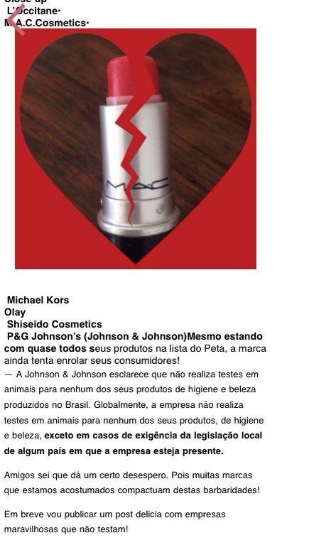 MAC, Michael Kors, Shiseido, Johnson & Johson..