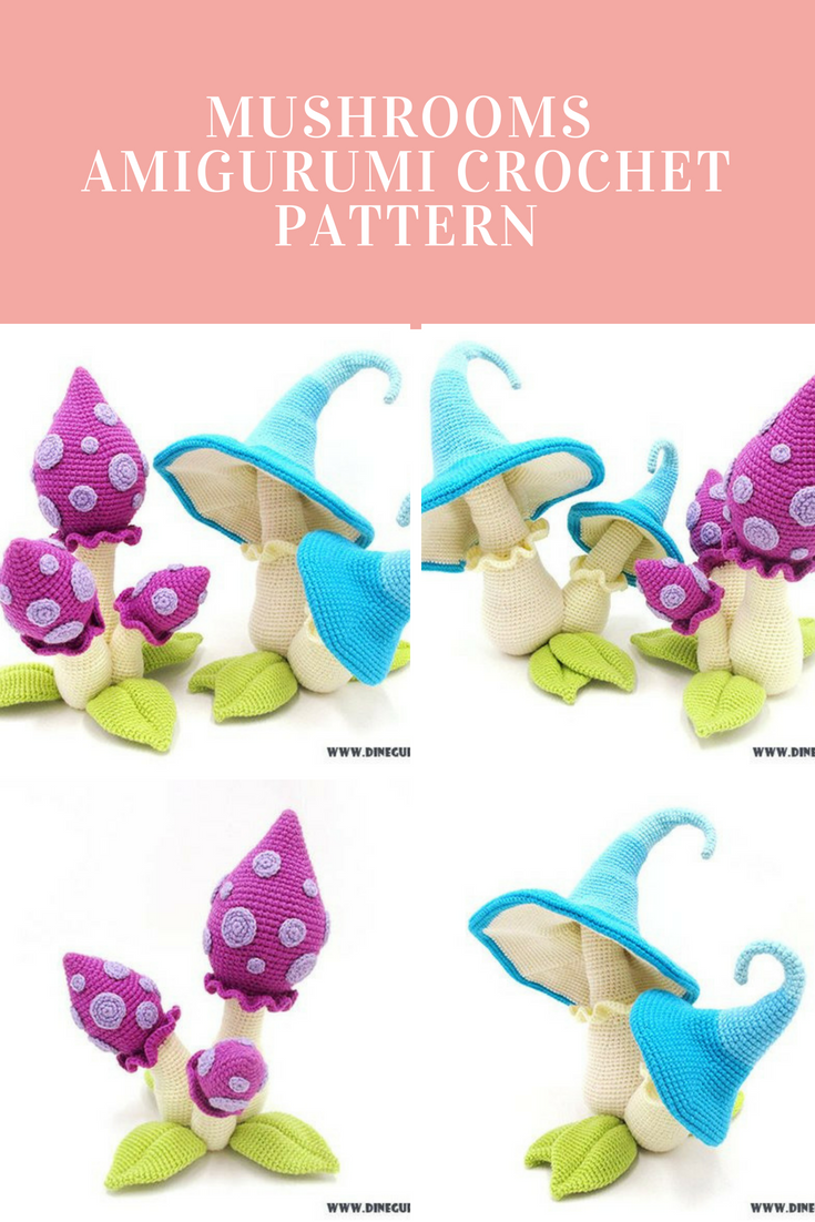 Mushrooms - amigurumi crochet pattern | Amigurumi | Pinterest ...