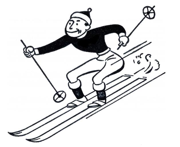 Funny Retro Skiing Clipart Vintage Ski Posters Clip Art Clip Art Vintage