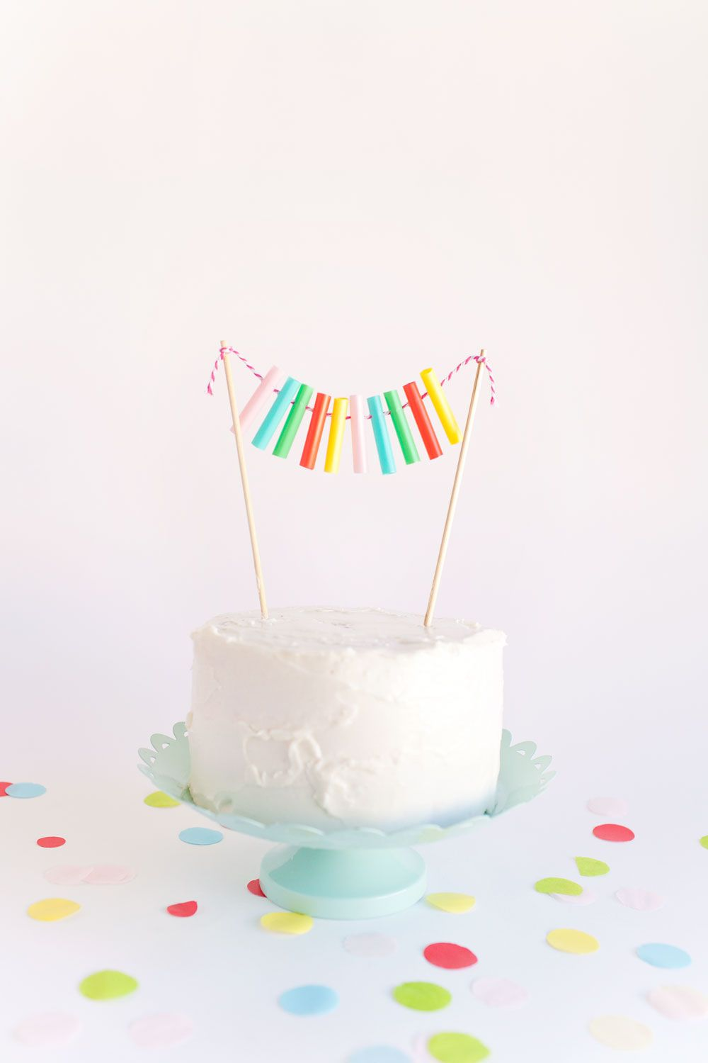 DIY Drinking Straw Cake Toppers